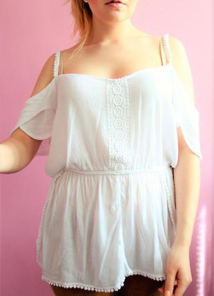 Романтичная блуза в стиле бохо с кружевом
