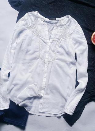 Белая блуза massimo dutti
