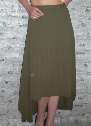 Очень красивая асимметричная шифоновая юбка от papaya