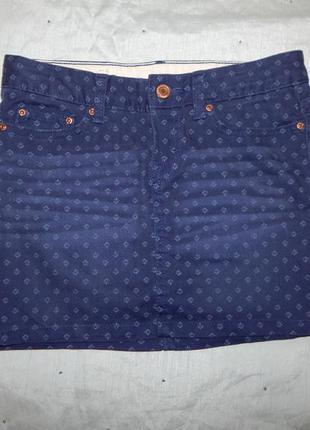 H&m юбка джинсовая стильная модная р6