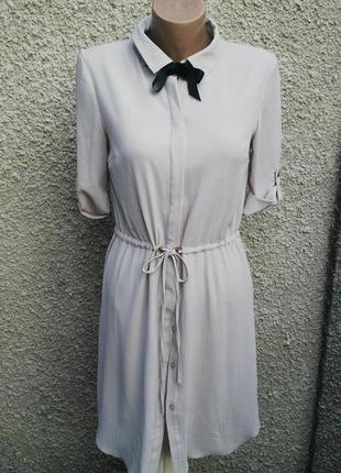 Платье-рубашка,туника под пояс,на подкладке