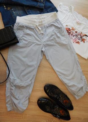 46-48р бриджи, капри, короткие штаны в полоску