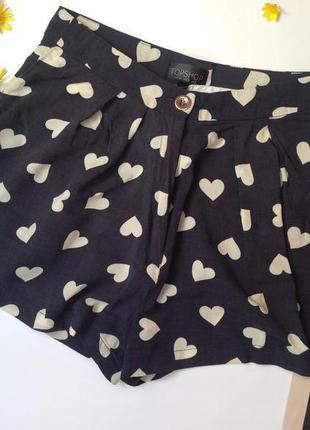 Стильные шорты с завышенной талией topshop