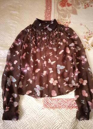 Стильная блузка с бабочками ruta-s