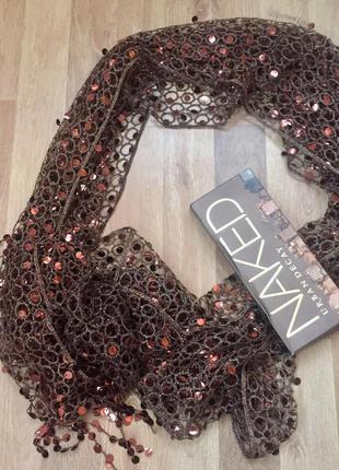 Легкий шарф пайетки