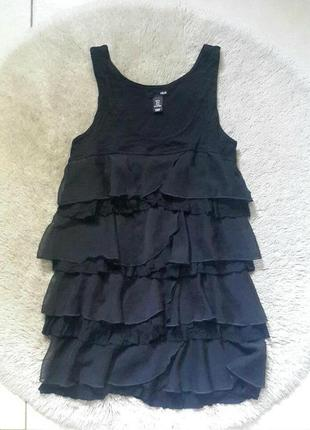 Коротке чорне плаття h&m/короткое платье/черное короткое платье