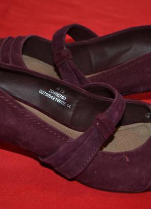 Женские туфли из натуральной замши footglove wider fit