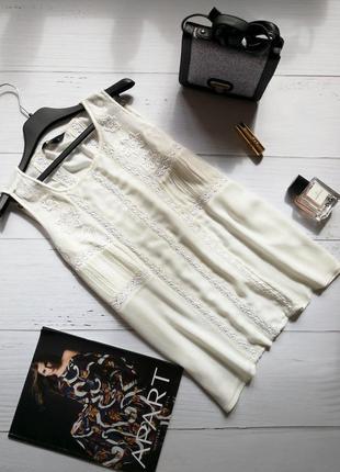 Актуальная блузка с кружевом и вышивкой new look
