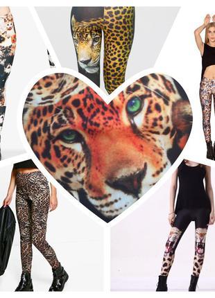 Лосины с фотопринтом леопарды coolcat