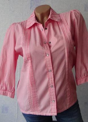 Фирменная рубашка в полоску на кнопочках lee