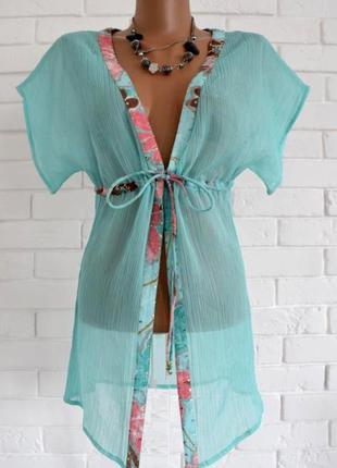 Пляжная накидка туника accessories uk10 в идеальном состоянии