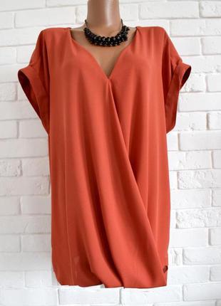 Красивая блуза из плотного шифона на запах atmosphere uk20 большой размер