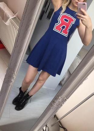 Молодежное трендовое платье h&m