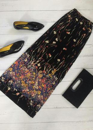 Трендовая юбка макси с разрезами в цветочный принт forever 21