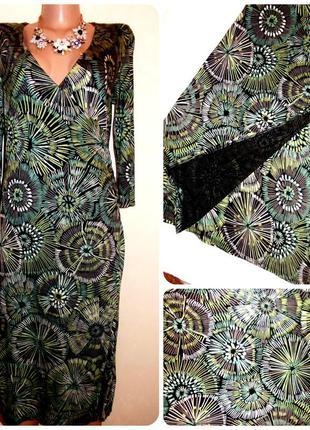 Актуальное вискозное платье на запах в актуальный принт абстракция размер: 42 / 14 / xl