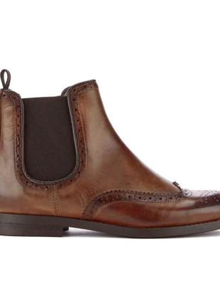 Ботинки броги оксфорды кожа деми
