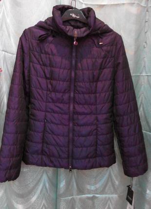 Молодежная куртка фиолетового цвета s