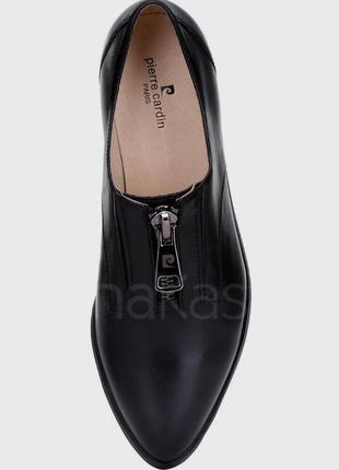 Кожаные туфли лоферы ботинки pierre cardin