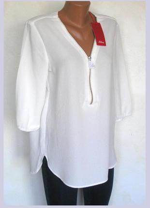 Скидка 20% на 2 вещь до 9 мая!! фактурная блуза со змейкой, с биркой, доставка бесплатно.