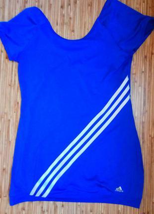 Удлиненная яркая футболка для спорта,фитнеса