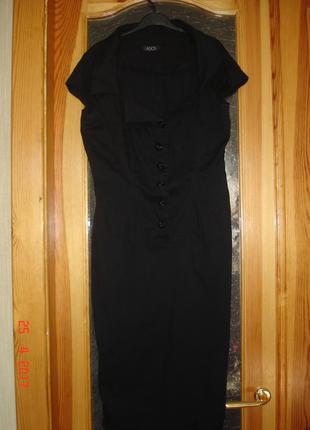 Эффектное чёрное платье asos