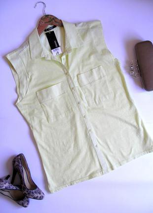 Нежная лимонная рубашка, с биркой, доставка бесплатно.