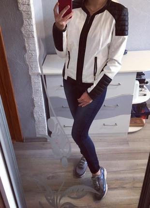 Стильная кожанка итальянская от rinascimento , кожаная куртка , пиджак made in italy
