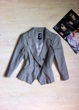 Пиджак серый коттоновый