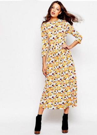Платье asos glamorous миди с этническим цветочным принтом