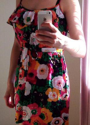 Поделиться:  сарафан летний цветочный принт хлопок ostin