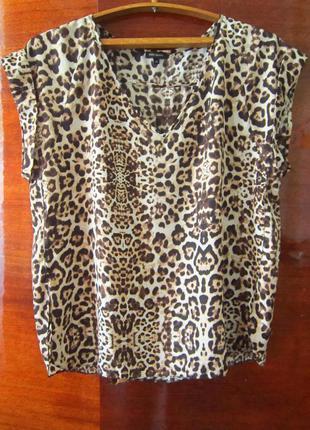 Блуза в леопардовый принт/ обмен
