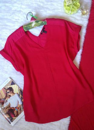Оригинальная блуза mango малинового цвета