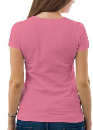 Базовая розовая футболка (m)
