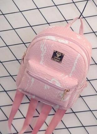 Нежный розовый рюкзак с разводами