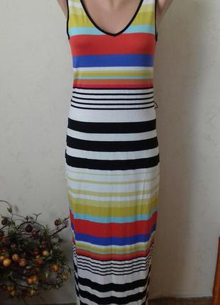 Новое длинное вискозное платье в полоску atmosphere
