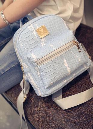 Голубой рюкзак с разводами