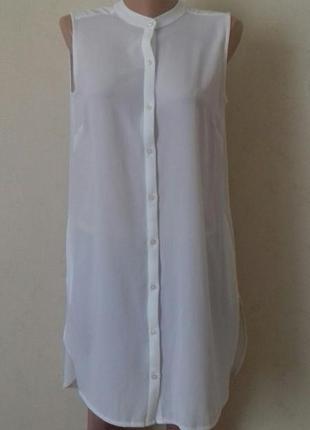Новое белое платье -рубашка f&f