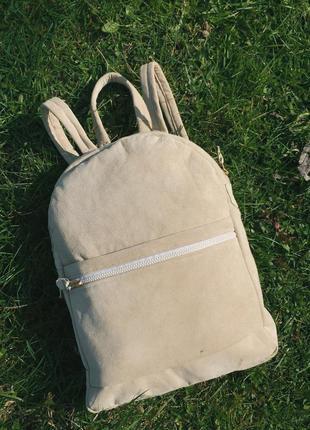 Кожаный/замшевый рюкзак/портфель ручной работы