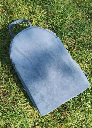 Красивый рюкзак ручной работы, из эко замши/под велюр/вельвет