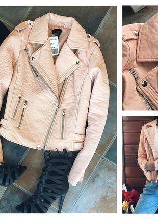 Крутая кожаная весенняя куртка косуха s и m