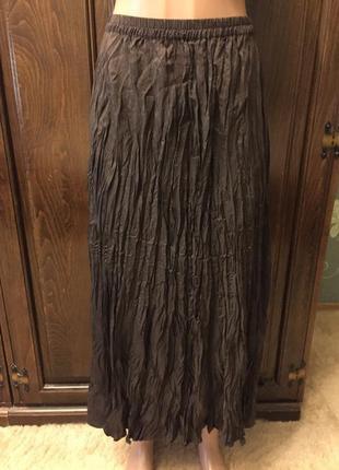 Прекрасная шелковая юбка большого размера от marks&spencer.