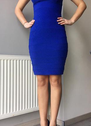 Синее платье-футляр new look.