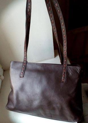 Кожаная сумка. италия.