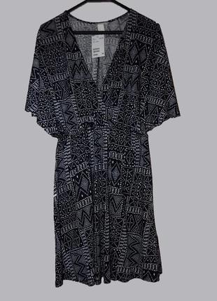 Платье летнее , пляжное с рукавами летучая мышь размер xs от h&m
