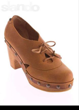 Супер цена! кожаные ботинки в ретро стиле