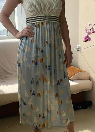 Платье made in italy с вязаным верхом