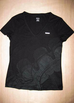 Reebok playdry (m) спортивная эластичная футболка женская
