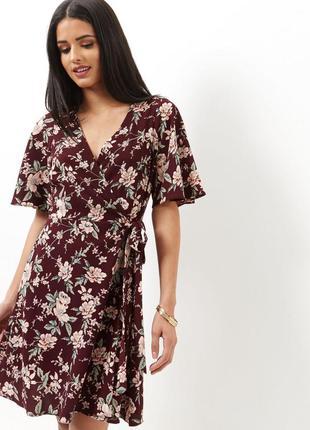 Новое цветочное платье на запах new look
