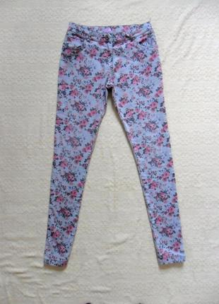Стильные джинсы скинни в цветочный принт f&f, 10 размер