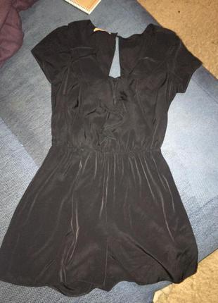Платье шортиками ромпер с воланами рюшами